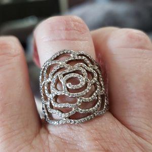 Pandora rose ring size 56 silver